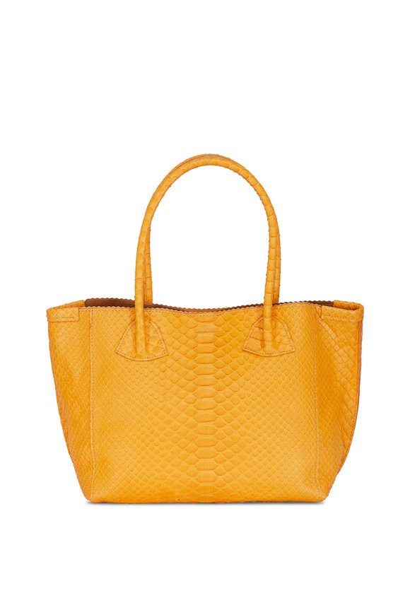 B May Bags Buttercup Python Embossed Market Tote