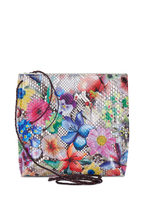 B May Bags Floral Python Strappy Crossbody
