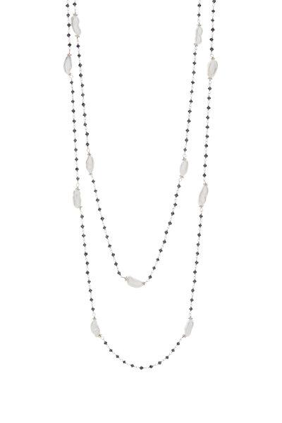 Kathleen Dughi - Black Diamond & Keshi Pearl Necklace