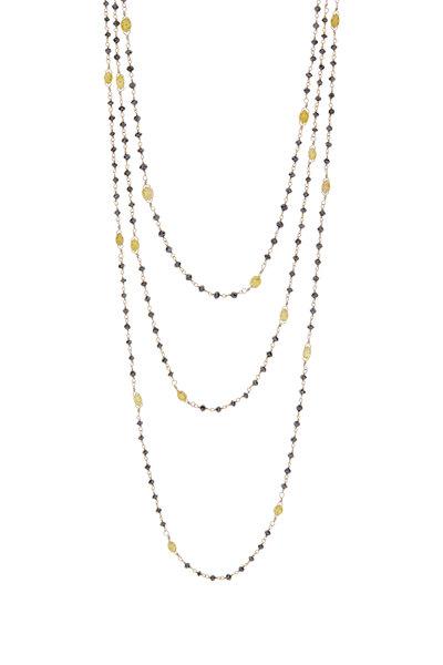 Kathleen Dughi - Black Diamond & Opal Ball Necklace