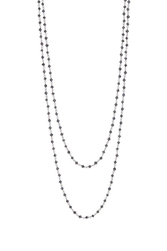 Kathleen Dughi 18K Black Gold Black Diamond Necklace