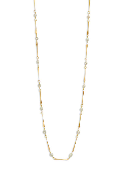 Caroline Ellen - Yellow Gold Gray Diamonds Mini Link Necklace
