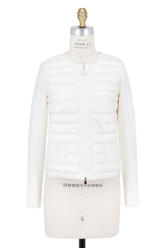 Moncler White Knit Back Jacket