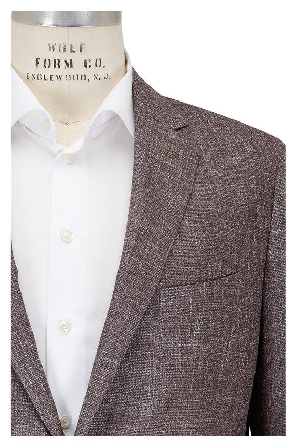 Maurizio Baldassari Taupe Wool, Linen & Silk Sportcoat