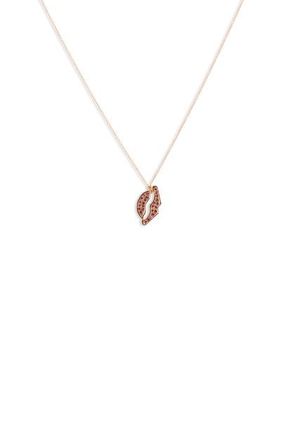 Tulah Jem - Pink Gold Ruby Lips Necklace