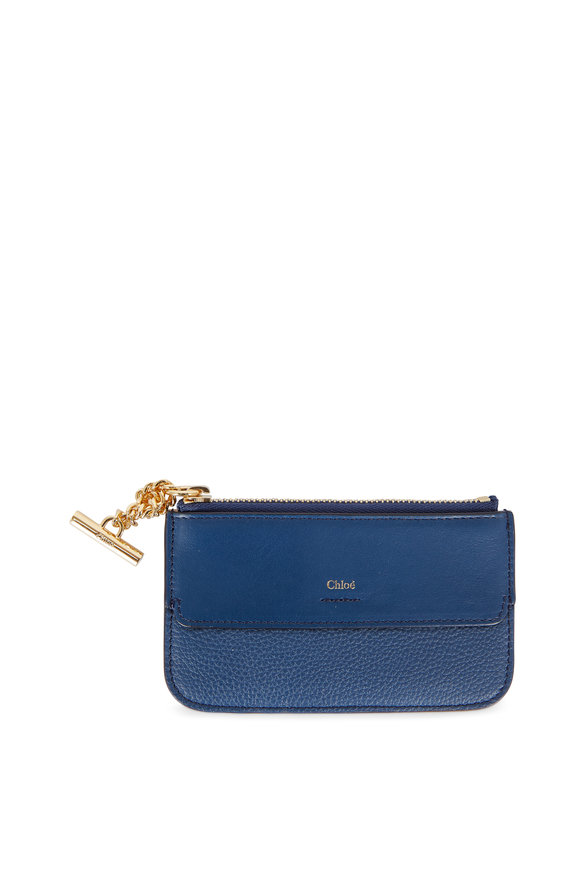 Chloé Joe Denim Blue Leather Card Case