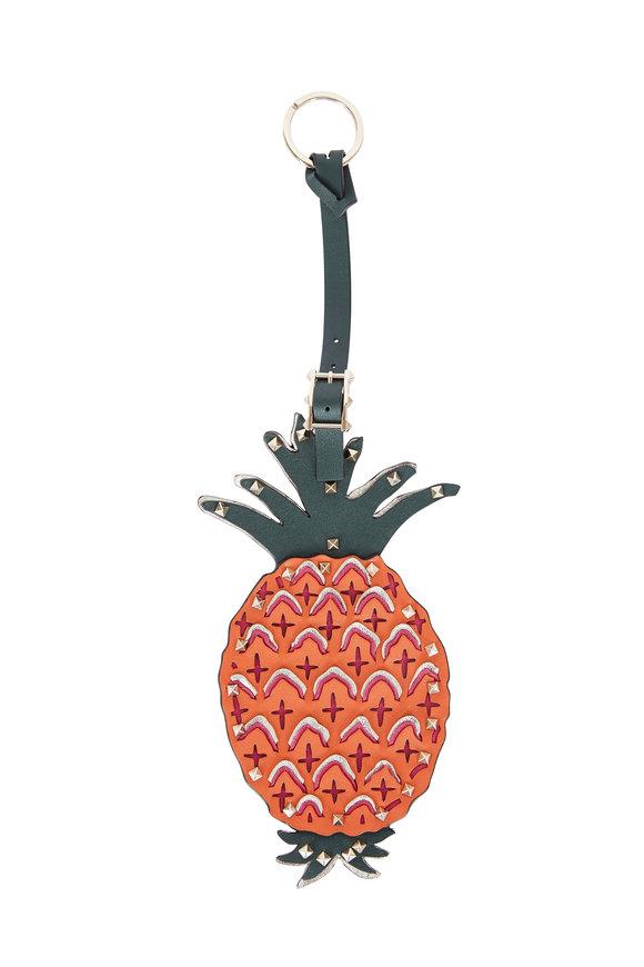 Valentino Rockstud Pineapple Bag Key Chain
