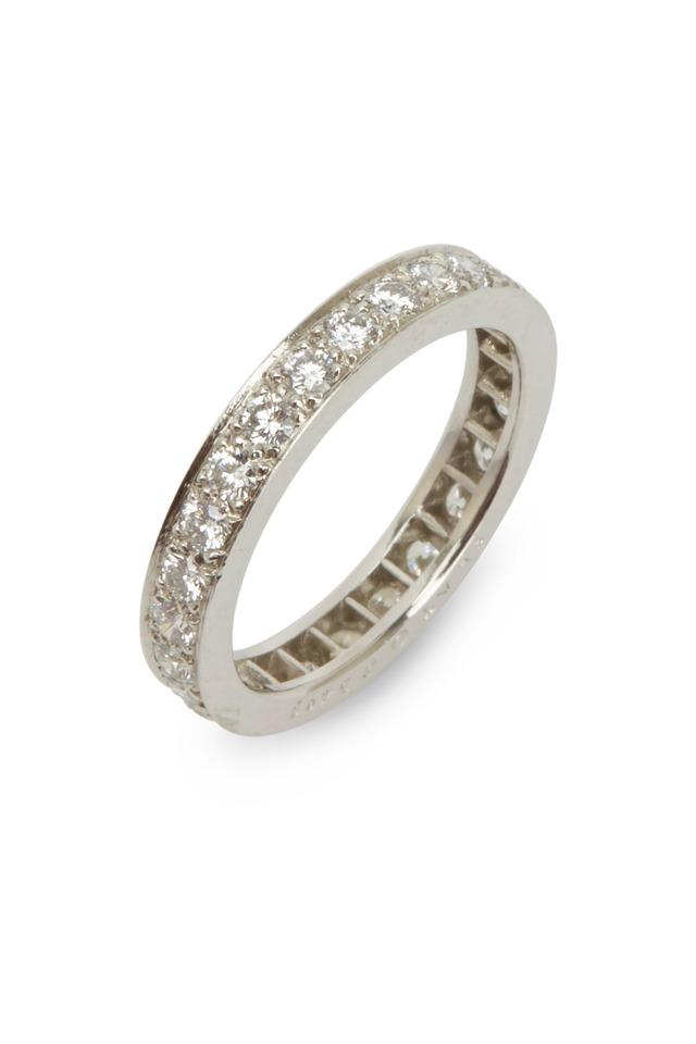 White Diamonds Guard Platinum Ring