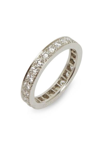 Oscar Heyman - White Diamonds Guard Platinum Ring