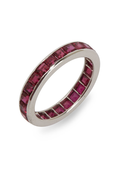 Oscar Heyman - Platinum Ruby Guard Ring