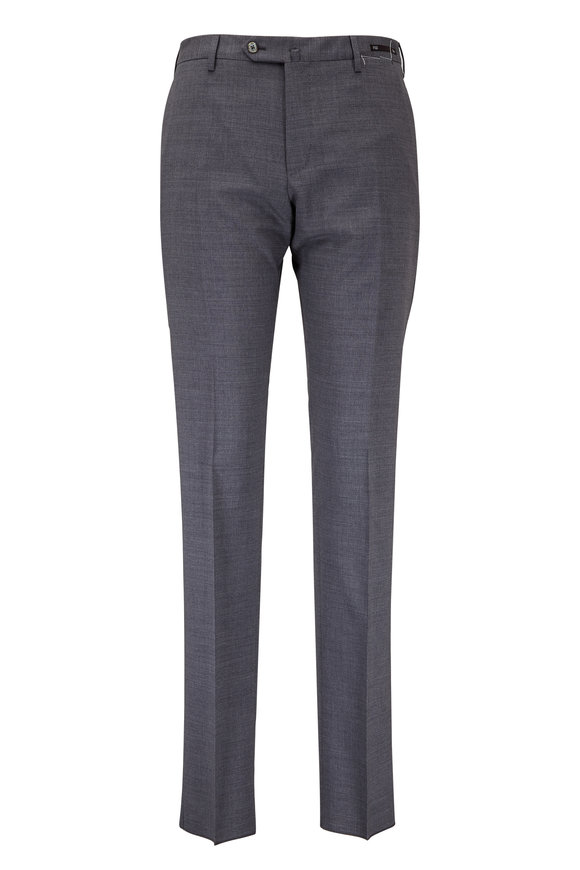 PT01 Dark Gray Stretch Wool Slim Fit Trouser