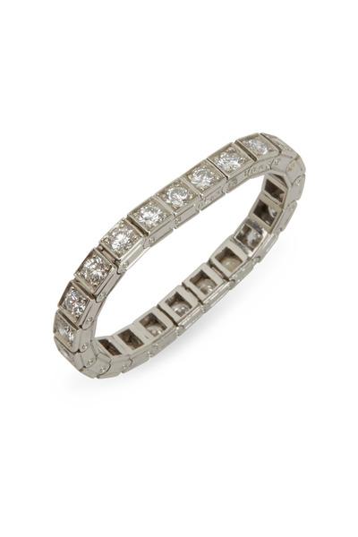 Oscar Heyman - White Diamond Flex Platinum Ring