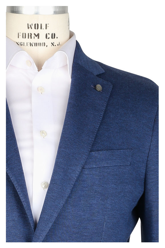 Peter Millar Navy Blue Knit Sportcoat