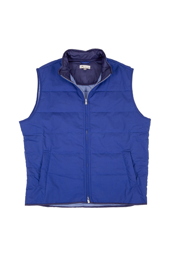 Peter Millar Blue Diamond Waxed Cotton Quilted Vest