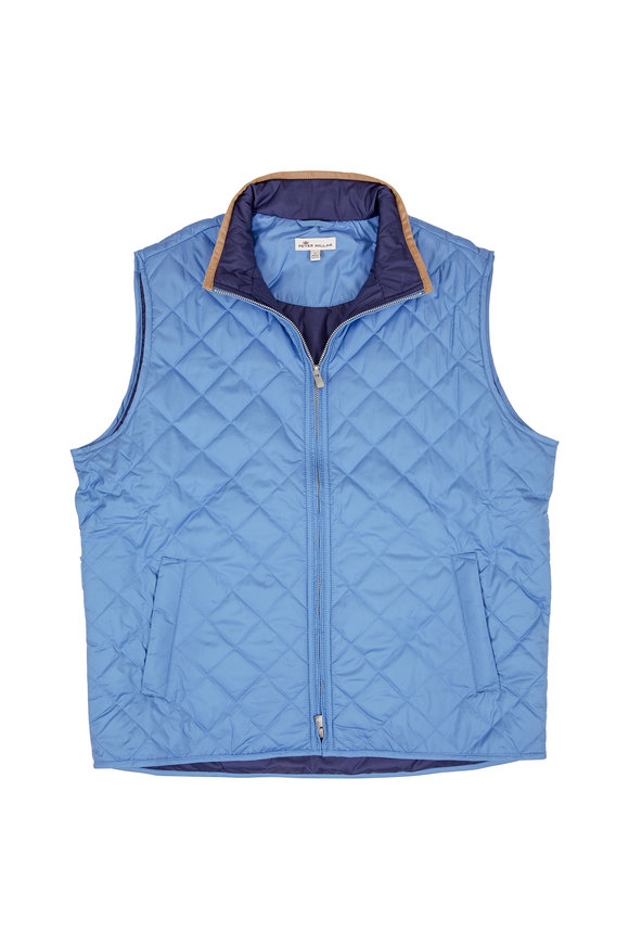 Peter Millar Rutheford Pier Blue Quilted Vest