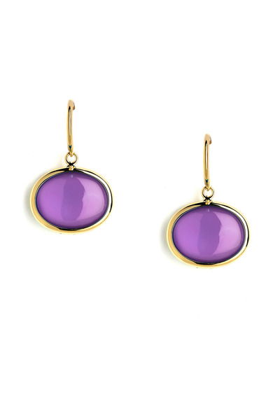 Syna - Gold Amethyst Earrings