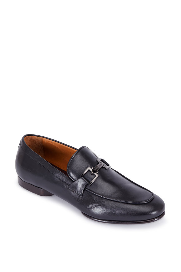 Bruno Magli Leo Black Leather Bit Loafer