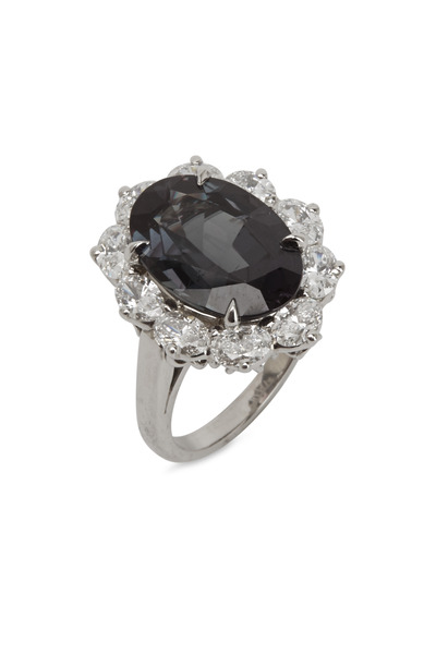 Oscar Heyman - Platinum Alexandrite White Diamond Ring