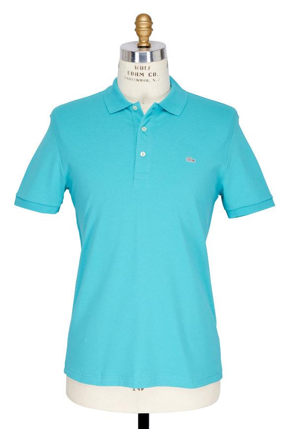 Lacoste Bermuda Blue Stretch Cotton Slim Fit Polo