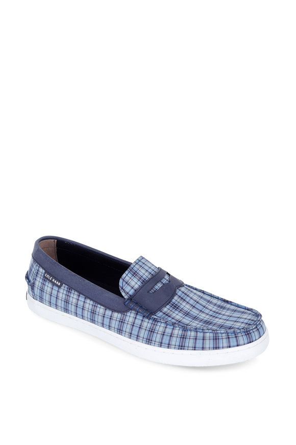 Cole Haan Pinch Weekender Blue Madras Canvas Loafer