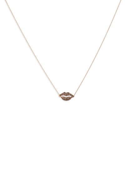 Tulah Jem - Pink Gold Sapphire Lips Necklace