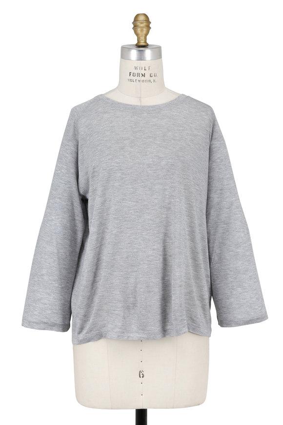 Vince Heather Gray Full Sleeve Raglan T-Shirt