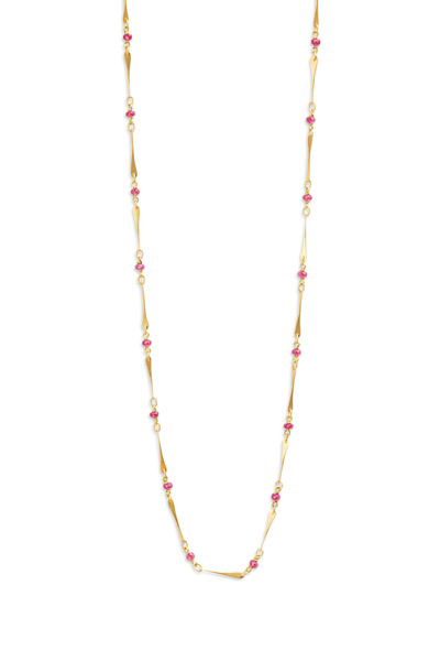 Caroline Ellen - 20K Yellow Gold Ruby Necklace