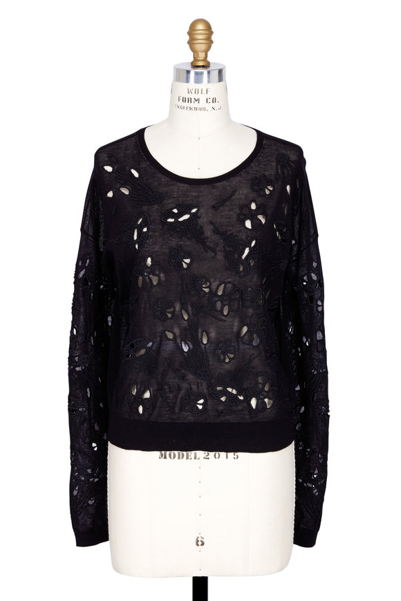 DOROTHEE SCHUMACHER Romance Of Science Black Cut-Out Sweater