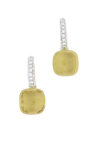 Pomellato - Nudo 18K Rose Gold Lemon Quartz & Diamond Earrings