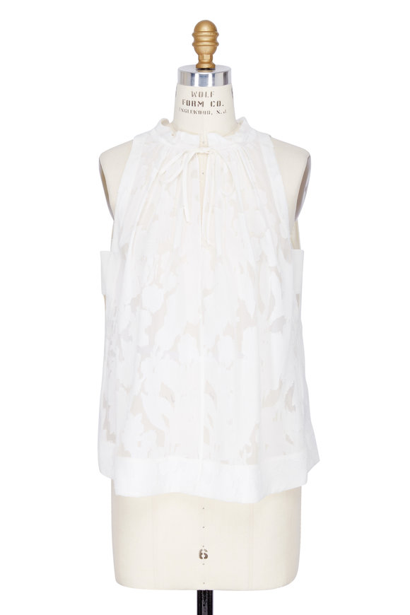 DOROTHEE SCHUMACHER Delicate Fantasy White Sleeveless Top