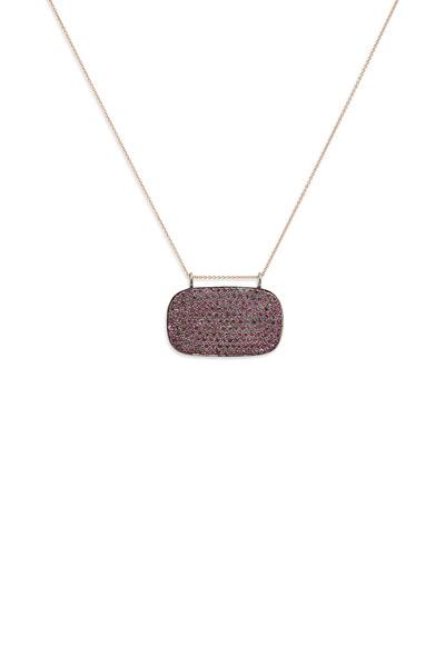 Tulah Jem - Rose Gold Pink Sapphire Pendant