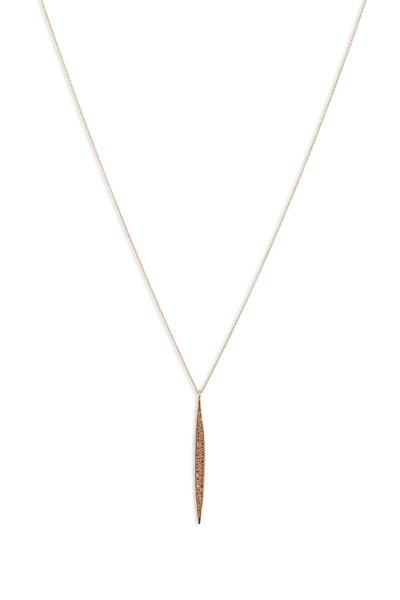 Tulah Jem - Rose Gold Pavé-Set Diamond Dagger Chain Necklace