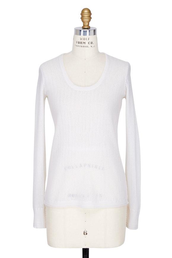 Rag & Bone Estelle Ivory Cashmere Scoopneck Sweater