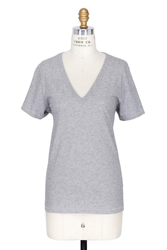 Rag & Bone The Vee Grey Short Sleeve T-Shirt