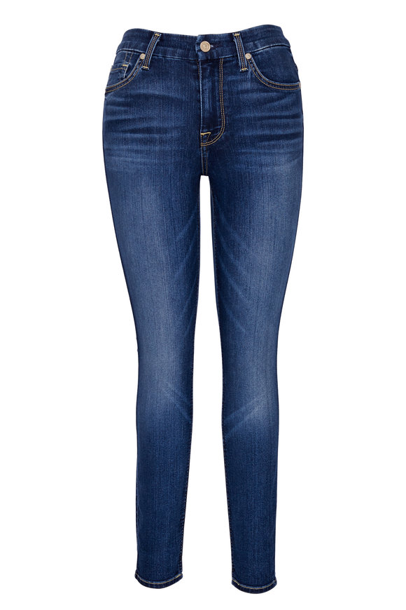 7 For All Mankind Ankle Skinny High Waist Jean