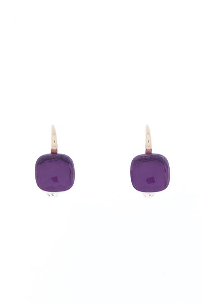 Pomellato - Nudo Pink Gold Amethyst Dangle Earrings