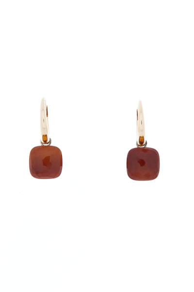 Pomellato - Nudo 18K Rose Gold Madiera Quartz Drop Earrings