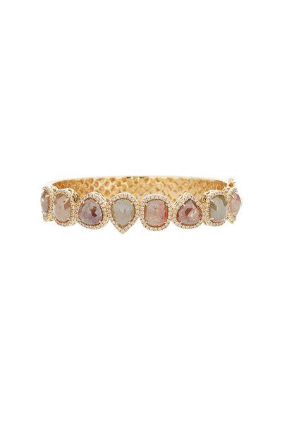 Sutra - 18K Yellow Gold Rough Diamond Bracelet