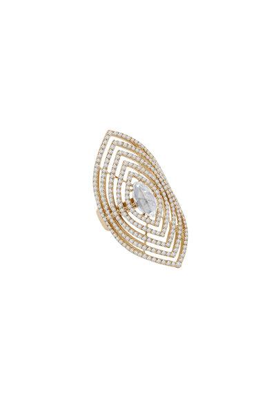 Sutra - 18K Rose Gold Diamond Cocktail Ring