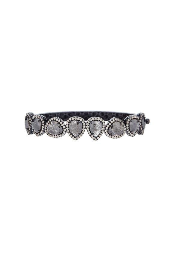Sutra 18K Blackened Gold Rough Diamond Bracelet