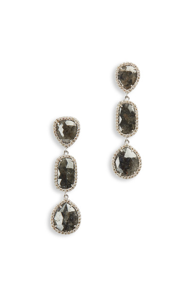Sutra - 3 Tier Diamond Drop Earrings
