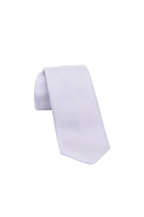 Brioni Lavender Geometric Silk Necktie