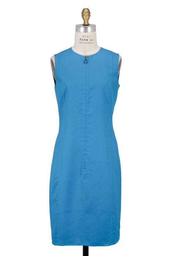 Akris Whirlaway & Green Reversible Sleeveless Dress