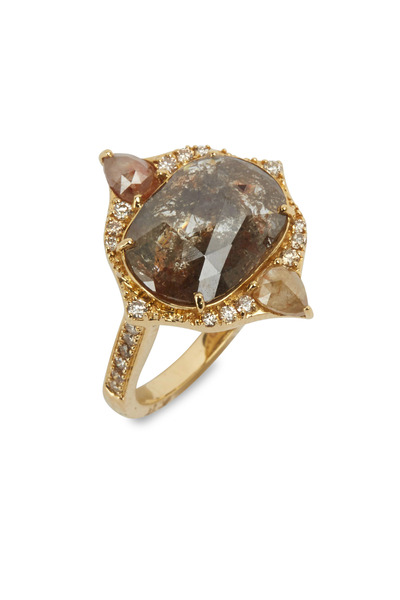 Sutra - Yellow Gold Rough Diamond Ring
