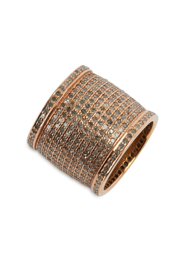 Rose Gold Pavé Diamond Cigar Band