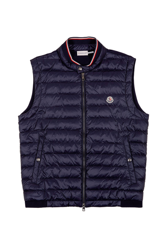 Moncler Navy Quilted Vest
