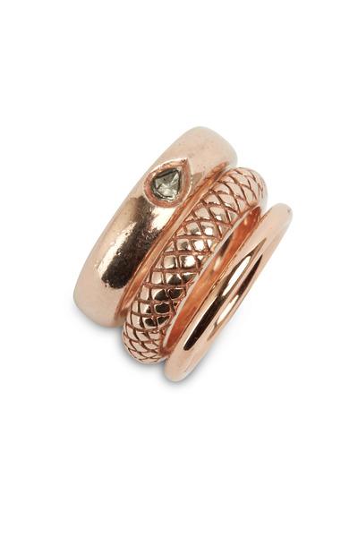Tulah Jem - Rose Gold Diamond Stack Band Ring