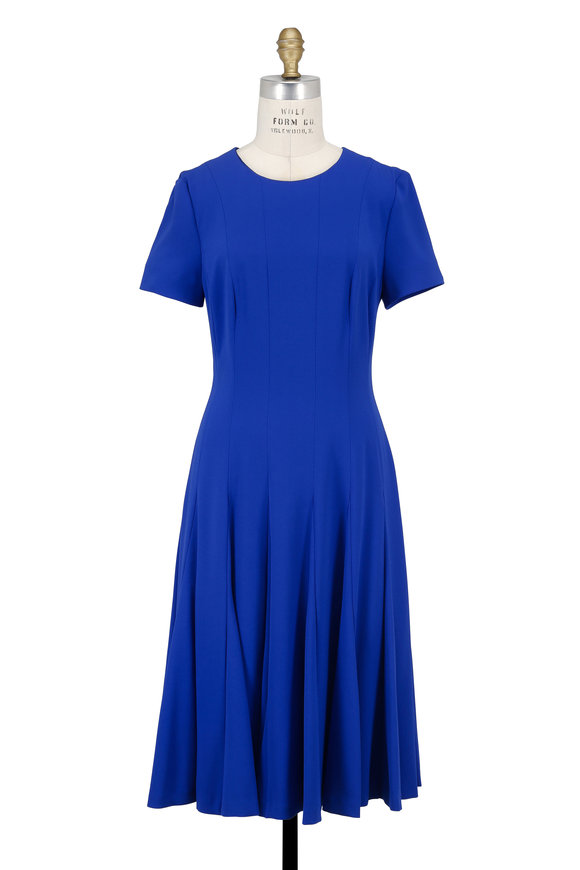 Escada Dsalis Azure Short Sleeve Swing Dress