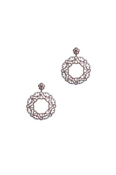 Bochic - White Gold Sapphire Diamond Earrings