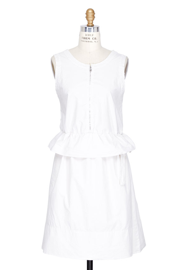 DOROTHEE SCHUMACHER Fabulous Freshness White Cotton Sleeveless Dress
